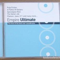CDs de Música: EMPIRE ULTMATE -THE BEST OF THE BEST EVER SOUNDTRACKS (CD) 2001 - 12 TEMAS - B.S.O.. Lote 132677394