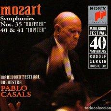 CDs de Música: MOZART - SYMPHONIES 35 'HAFFNER', 40 Y 41 'JUPITER' - DIRIGE: PABLO CASALS - SONY CLASSICAL 1991. Lote 132685810