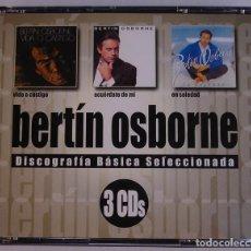 CDs de Música: BERTIN OSBORNE - DISCOGRAFIA BASICA SELECCIONADA ( 3 CD ) 2002 - 30 TEMAS. Lote 132754406