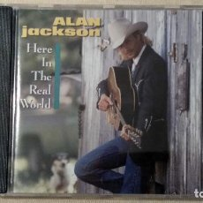 CDs de Música: ALAN JACKSON - HERE IN THE REAL WORLD - CD. ARISTA RECORDS, INC., 1989.. Lote 132820822