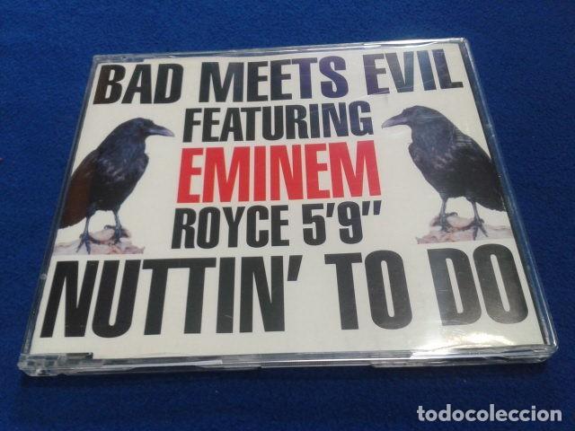 CD MAXI SINGLE EMINEM ( BAD MEETS EVIL FEATURING EMINEM ROYCE 5´9 NUTTIN TO DO) 2002 BLANCO Y NEGRO (Música - CD's Hip hop)