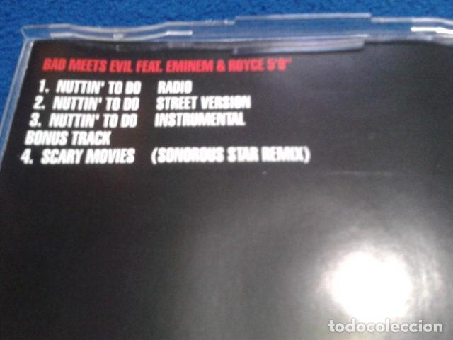 CDs de Música: CD MAXI SINGLE EMINEM ( BAD MEETS EVIL FEATURING EMINEM ROYCE 5´9 NUTTIN TO DO) 2002 BLANCO Y NEGRO - Foto 6 - 132895542
