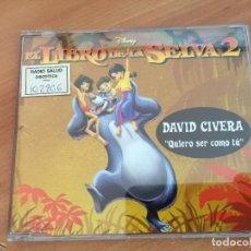 CDs de Música: DAVID CIVERA (QUIERO SER COMO TU. EL LIBRO DE LA SELVA 2) CD 1 TRACK PROMO (CDI18). Lote 132918886