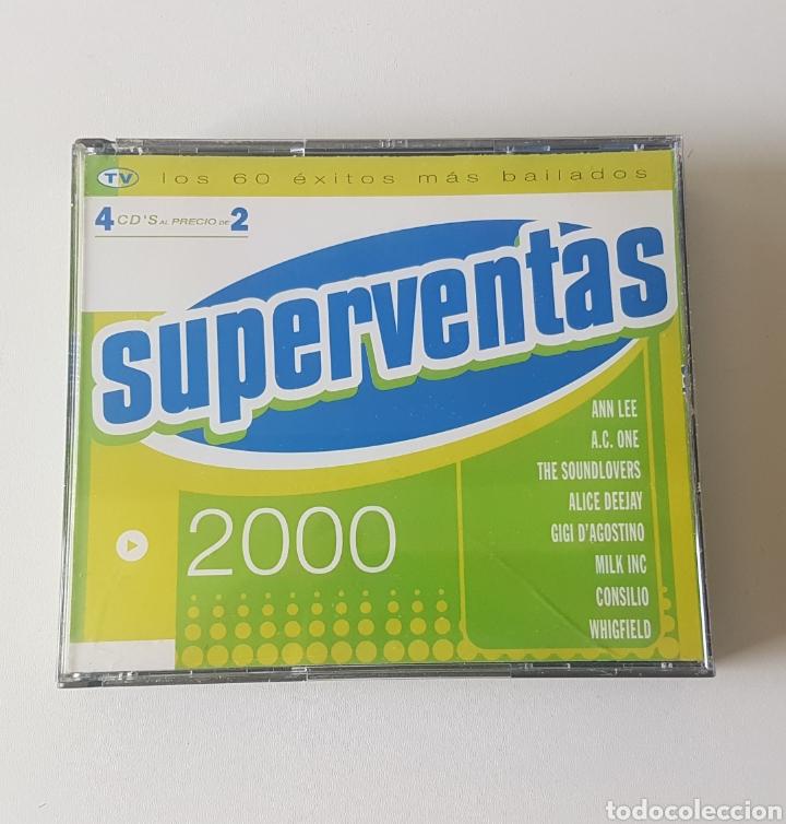 SUPERVENTAS 2000. 4 CDS (Música - CD's Otros Estilos)