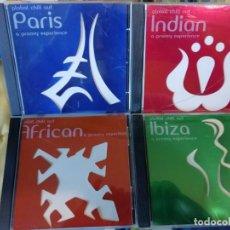 CDs de Música: CUATRO CDS MUSICA CHILL OUT - AMBIENT - ELECTRÓNICA - ÉTNICA. Lote 132995834