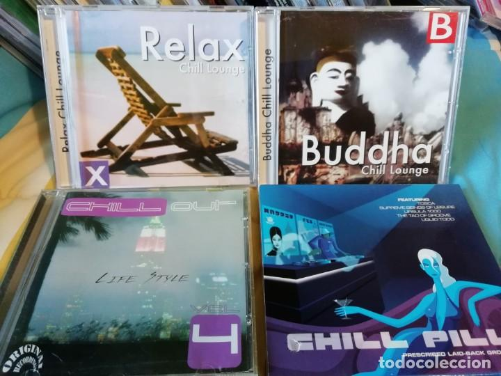 CUATRO CDS MÚSICA CHILL OUT - AMBIENT - RELAX - ÉTNICA - ELECTRÓNICA (Música - CD's New age)