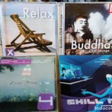CDs de Música: CUATRO CDS MÚSICA CHILL OUT - AMBIENT - RELAX - ÉTNICA - ELECTRÓNICA. Lote 132997994