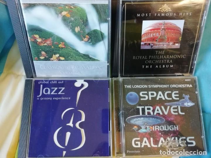 CUATRO CDS MÚSICA CHILL OUT - AMBIENT - ORQUESTA - CLÁSICA - NEW AGE - BSO... (Música - CD's New age)