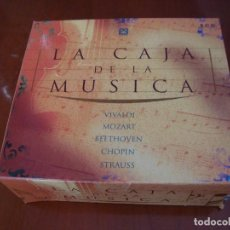 CDs de Música: LA CAJA DE LA MUSICA 5 CD'S VIVALDI - MOZART - BEETHOVEN - CHOPIN - STRAUSS. Lote 133229930