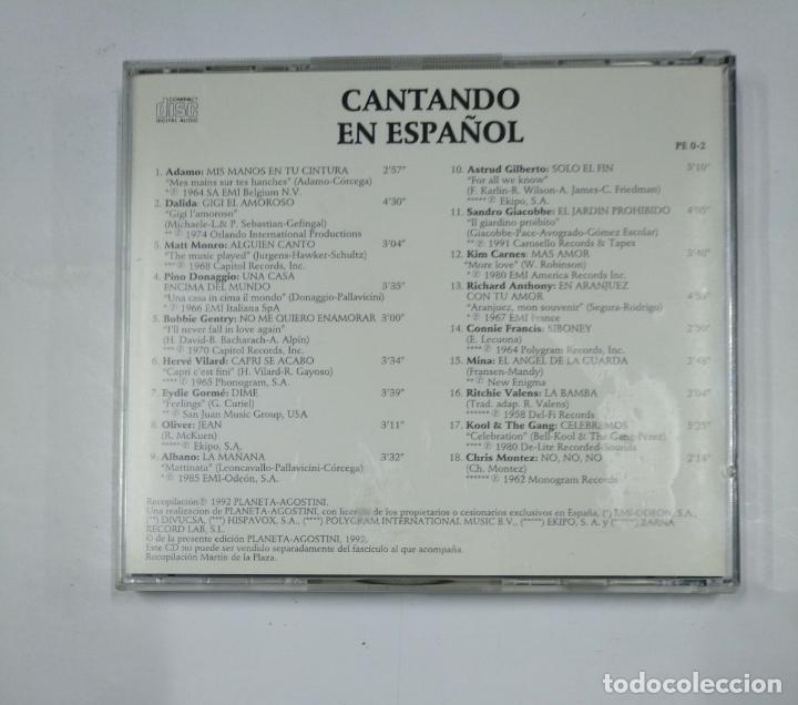 CDs de Música: CANTANDO EN ESPAÑOL - ADAMO, DALIDA, MATT MONRO - CD TDKV14 - Foto 2 - 133264386