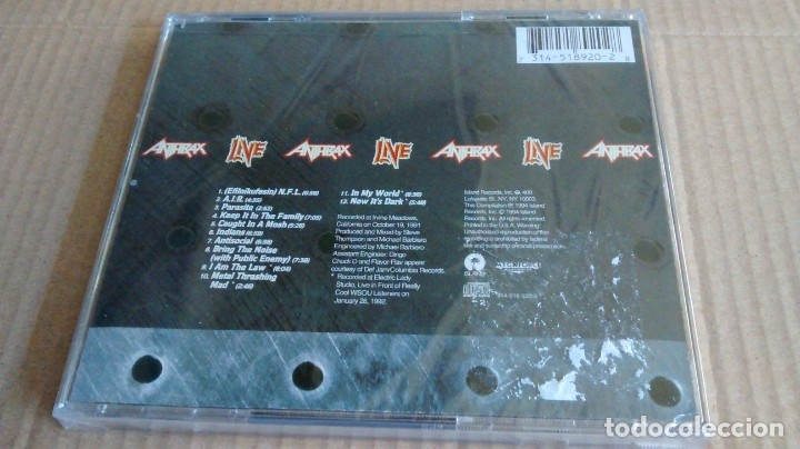CDs de Música: (SIN ABRIR) Anthrax - Live - The Island years - Foto 2 - 133343798
