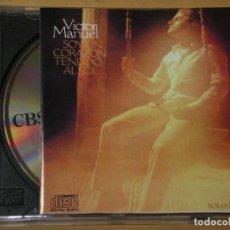 CDs de Música: VICTOR MANUEL, SOY UN CORAZON TENDIDO AL SOL, MUY DIFÍCIL, CD. Lote 133351598