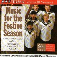 CDs de Música: EL CORO DE NIÑOS CANTORES DE VIENA - MUSIC FOR THE FESTIVE SEASON - CD 22 TRACKS - BBC MUSIC 1994. Lote 133405590