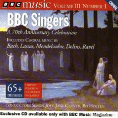 CDs de Música: BBC SINGERS - A 70TH ANNIVERSARY CELEBRATION - CD ALBUM - 16 TRACKS - BBC MUSIC MAGAZINE 1994. Lote 133405966