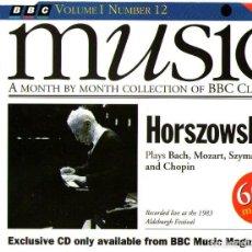 CDs de Música: HORSZOWSKI - PLAYS BACH, MOZART, SZYMANOWSKI AND CHOPIN - CD ALBUM - 17 TRACKS - BBC MUSIC 1993. Lote 133406422