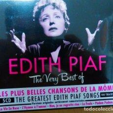 CDs de Música: EDITH PIAF * BOX DIGIPACK * THE VERY BEST OF 100 TRACKS!!! * PRECINTADO * RARE * FRANCE. Lote 133490977