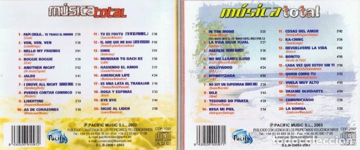 CDs de Música: MÚSICA TOTAL 40 SÚPER ÉXITOS ( 2 CD´S) - Foto 3 - 133515278