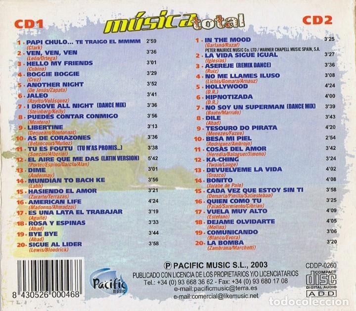 CDs de Música: MÚSICA TOTAL 40 SÚPER ÉXITOS ( 2 CD´S) - Foto 4 - 133515278