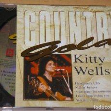 CDs de Música: COUNTRY GOLD, KITTY WELLS, MUY DIFICIL Y RARO, CD ERCOM. Lote 133547114