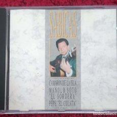 CDs de Música: SABICAS (SABICAS CON LAS VOCES DE CAMARON DE LA ISLA, MANUEL SOTO, PEPE 'EL CULATA'...) CD 1990. Lote 133556174