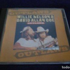 CDs de Música: WILLIE NELSON & DAVID ALLAN COE OUTLAWS CD . Lote 133655706