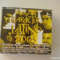 CDs de Música: CARÁCTER LATINO 2003, 3 CDS MÁS UN DVD. Lote 133660334