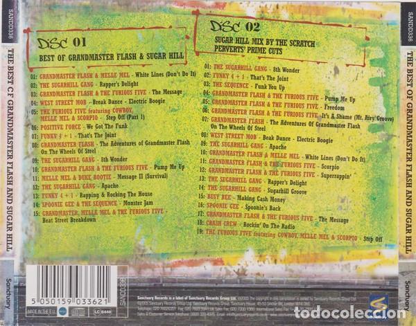 CDs de Música: Various ?– The Best Of Grandmaster Flash And Sugar Hill - Doble CD - Foto 2 - 133673574