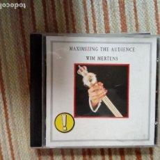 CDs de Música: WIM MERTENS CD MAXIMIZING THE AUDIENCE. Lote 133380994