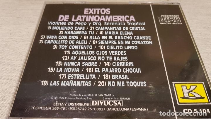 CDs de Música: ORQ. SERENATA TROPICAL Y VIOLINES DE PEGO / ÉXITOS DE LATINOAMÉRICA / CD-KUBANEY / LUJO. - Foto 2 - 133695018