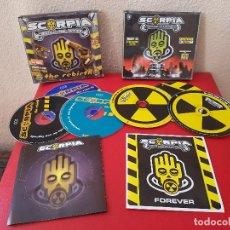 CDs de Música: LOTE 2 CAJAS CD SCORPIA CENTRAL DEL SONIDO FOREVER 3 CD THE REBIRTH 3 CD. Lote 133710942