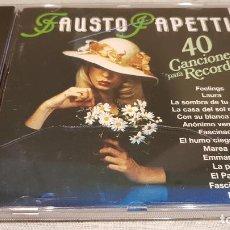CDs de Música: FAUSTO PAPETTI / CANCIONES PARA RECORDAR / VOL 1 / CD - PERFIL / 20 TEMAS / CALIDAD LUJO.. Lote 133717226
