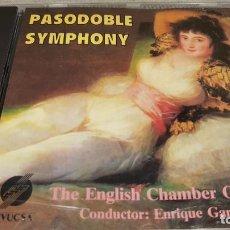CDs de Música: PASODOBLE SYMPHONY / ENGLISH CHAMBER ORQ. / CD - DIVUCSA / 10 TEMAS / LUJO.. Lote 133719830