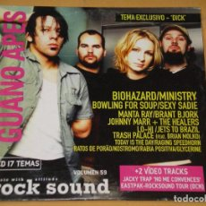 CDs de Música: ROCK SOUND , CD Nº 59, BIOHAZARD MINISTRY RATOS DE PORAO MANTA RAY SEXY SADIE THRASH PALACE. Lote 133730050