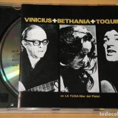 CDs de Música: VINICIUS, BETANIA, TOQUINHO, EN LA FUSA (MAR DE PLATA), CD, ERCOM. Lote 133759422