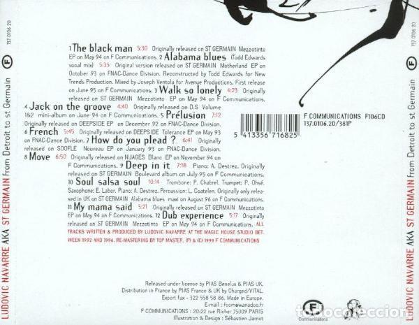 CDs de Música: Ludovic Navarre AKA St Germain – From Detroit To St Germain (EU, 1999) - Foto 3 - 133777822