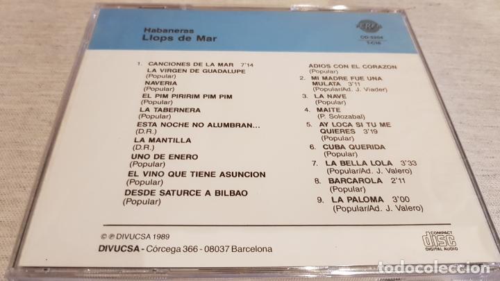 CDs de Música: LLOPS DE MAR / HABANERAS / CANCIONES DE LA MAR / CD - PERFIL - 9 TEMAS / PRECINTADO. - Foto 2 - 133808290