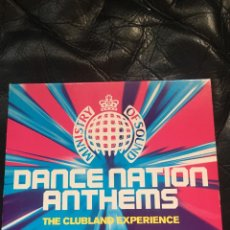 CDs de Música: MINISTRY OF SOUND DANACE NATION ANTHEMS THE CLUBLAND EXPÈRIENCE. Lote 133814738