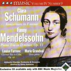 CDs de Música: CLARA SCHUMANN / FANNY MENDELSSOHN - CD ALBUM - 11 TRACKS - BBC MUSIC MAGAZINE 1996. Lote 133833542