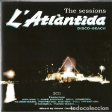 CDs de Música: DOBLE CD L' ATLANTIDA, THE SESSIONS ( SITGES DISCO BEACH ) MIXED BY DAVID GAUSA . Lote 133841074