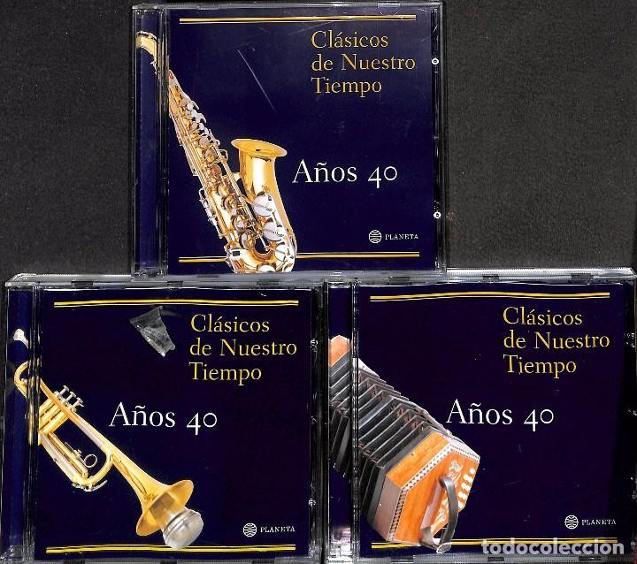 CD CLÁSICOS DE NUESTRO TIEMPO AÑOS 40 - 3 CDS (Música - CD's Otros Estilos)