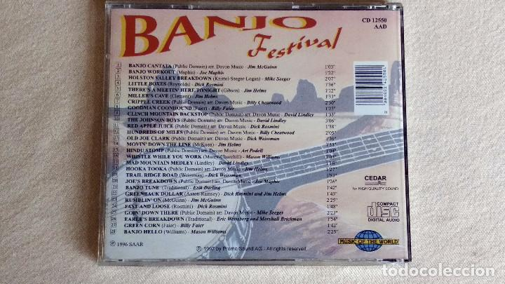 CDs de Música: BANJO FESTIVAL - Music of the Word - CD. SAAR 1996 - Promo Sound AG. 1997 - Foto 3 - 133900182