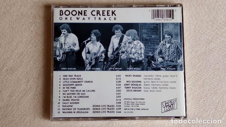 CDs de Música: BOONE CREEK - One Way Track - CD. Sugar Hill Records. 1991 - Foto 3 - 133906926