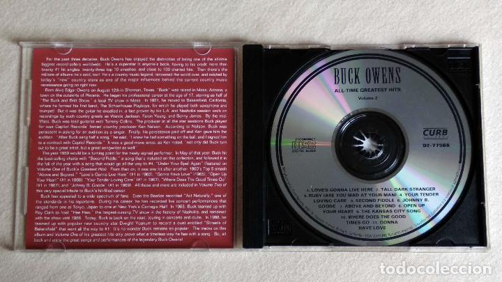CDs de Música: BUCK OWENS -ALL TIME GREATEST HITS Vol.2 - CD. CURB Records. 1992 - Foto 2 - 133908674
