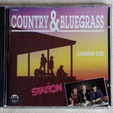 CDs de Música: STATION. LONESOME TRAIN - COUNTRY & BLUEGRASS - CD. THIERRY LECOCQ - SUNSET-FRANCE. 1991.. Lote 133910878