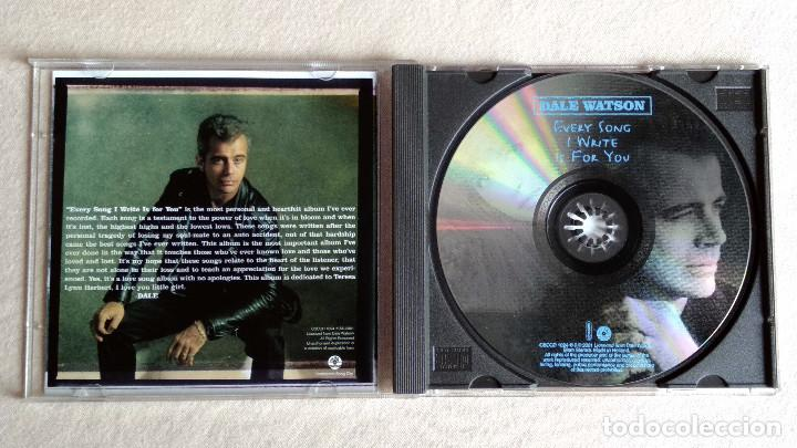 CDs de Música: DALE WATSON - Every Song I Write Is For You - CD. CSCCD 1024. Año 2001 - Foto 2 - 133911626