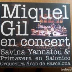 CDs de Música: MIQUEL GIL EN CONCERT-CD MAS DVD-2006 GALILEO-NUEVO. Lote 133947586