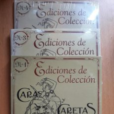 CDs de Música: CARAS Y CARETAS-3 CDS-APTO PC-DE COLECCION-CON LAS TAPAS DE 150 NUMEROS-2005. Lote 133956554