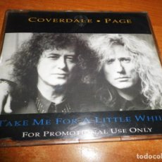 CDs de Música: DAVID COVERDALE & JIMMY PAGE TAKE ME FOR A LITTLE WHILE CD SINGLE PROMO UK DEEP PURPLE LED ZEPPELIN. Lote 134023818