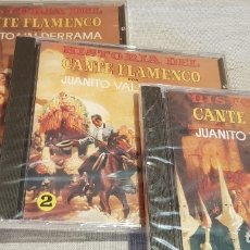 CDs de Música: JUANITO VALDERRAMA / HISTORIA DEL CANTE FLAMENCO / COMPLETO 3 CDS - PERFIL / 45 TEMAS / PRECINTADOS.. Lote 134040918
