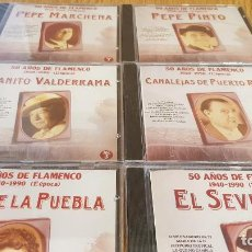 CDs de Música: 50 AÑOS DE FLAMENCO / 1ª ÉPOCA / VOLS 1 AL 6 / TODOS PRECINTADOS. OCASIÓN. / VER TEMAS.. Lote 134041766